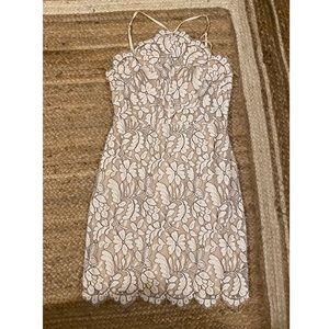 Delicate Ivory Lace Bodycon Dress